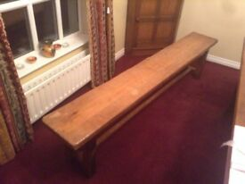 Solid Oak Bench approx 8 ft