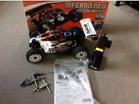 Rc car nitro kyosho inferno race spec version (as new)