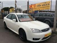 Ford mondeo St 2.2 tdci diesel 2007 in rare white 2 owners fsh long mot mint car may px