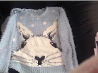 Ladies fluffy jumper
