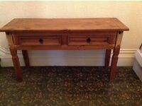 MEXICAN PINE LONG HALL TABLE