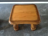 Square oak coffee table