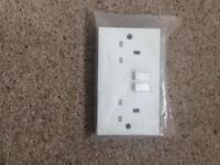 White 13amp wall socket