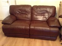 2 and 3 seater Leather Recliner Sofas