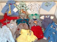 Bundle of boys' clothes 3-6 months