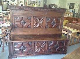 Huge French Monks Bench