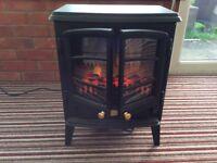Flame effect electric fan fire