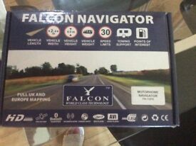 Falcon navigator seven inch sat nav for motorhome caravan lorry or rv