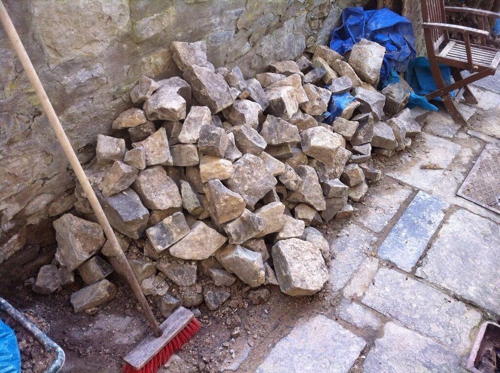 Reclaimed Stone Limestone Bagged Clean Penarth Nr Cardiff 250kg