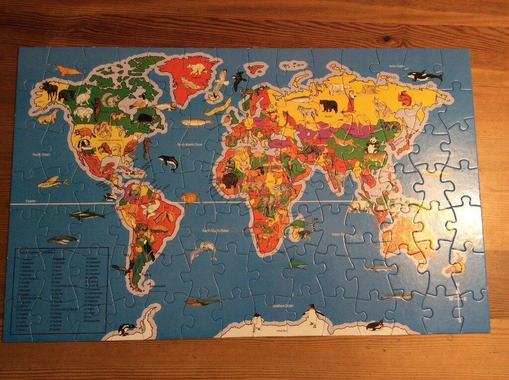 Elc World Map Jigsaw Puzzle Good Con In Norwich Norfolk Gumtree