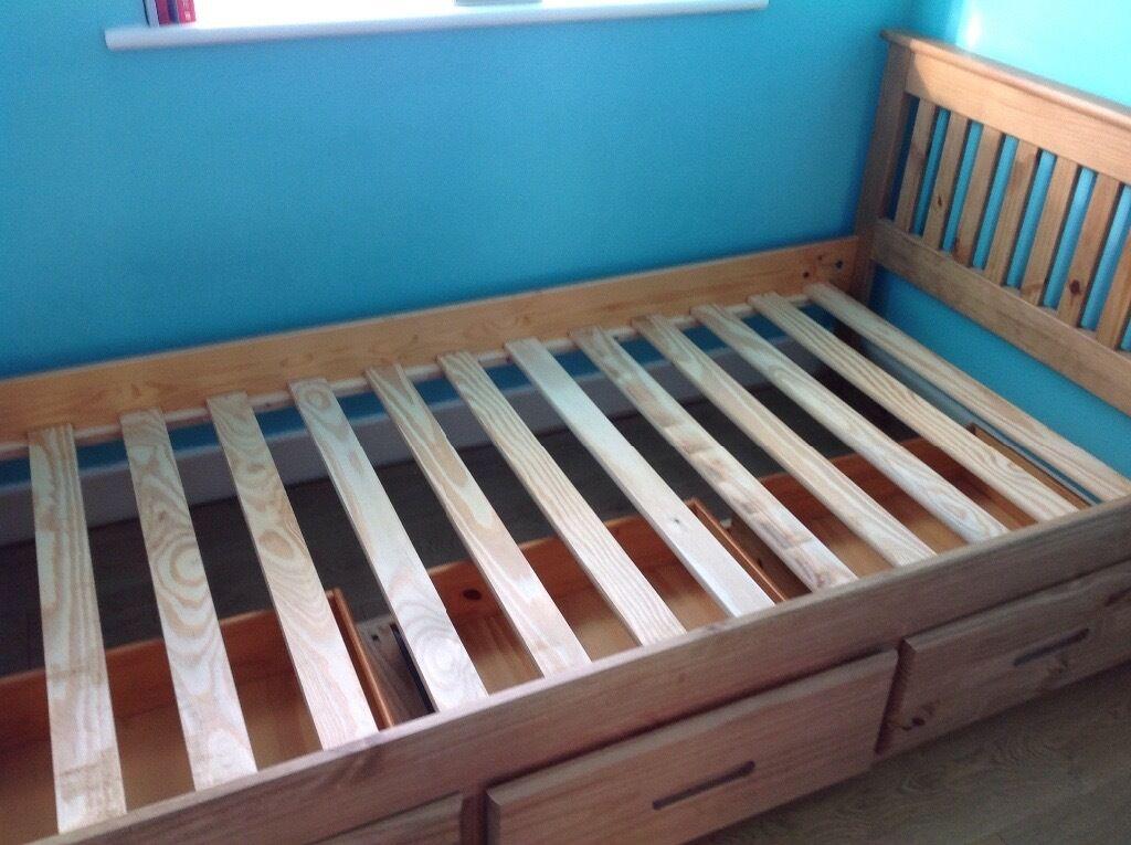 single wooden slate bed frame - Slate Bed Frame