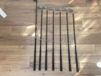 Set of hippo golf clubs and stand bag