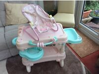 Baby Annabell dolls changing table and bouncer
