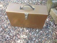 Vintage Retro Twinlock Filing Storage Metal Case Box