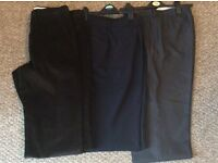 6 x pairs of gents trousers for sale combination of dress, chinos and cords.