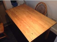 Ikea pine dining table