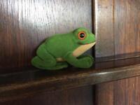 Steiff plush froggy, new. 1979.
