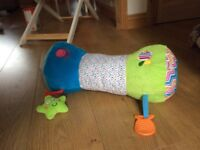 Tummy time roller sit me up aid. Baby toys excellent condition.