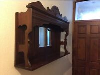 Victorian Mahogany Overmantle with mirror