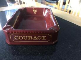 Vintage Pub Ashtray -Courage Bitter
