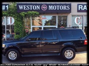 2011 Ford Expedition XLT EL *ELITE *4X4 *8 PASS *SUNROOF *LEATHE