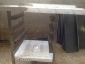 Dishwasher table stainless steel