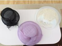 Ladies Hats x 3 Excellent Condition - Smoke & Pet free home