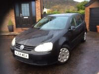 2005 Volkswagen Golf S 1400, 5 door hatchback Black