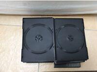 15 Double DVD case cases.