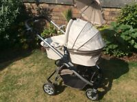 iCandy Cherry baby stroller and carry cot previously owned in great condition
