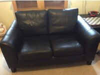 Black leather effect 2 seater sofa - free to collector
