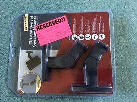 Tilt & swivel speaker mounts