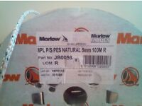 Marlow Rope, 8PL P/S PES Natural 5mm 100mr