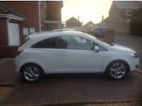 Stunning Vauxhall corsa SXI 3 door hatch in white with alloys in exellent condition FSH