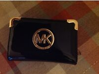 Black patent MK faux purse