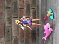 Barbie Dolphin Magic Snorkel Doll Set