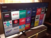 SAMSUNG 55-inch 55JU6800 NANO CRYSTAL UHD 4K HDR Smart LED TV,built in Wifi,Freeview,Fully Working