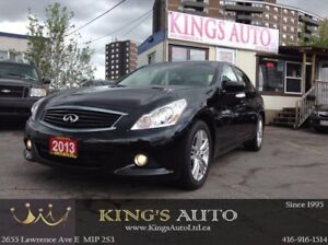 2013 Infiniti G37X  AWD, NAVI, BACK-UP CAM, SUNROOF, LEATHER, LO