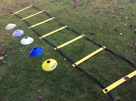 Agility Ladder and Cone Set - Football Rugby Fitness Training