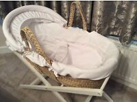 Mamas and Papas Moses Basket without mattress.