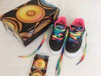 Heelys Motion Plus Black/Pink/Rainbow