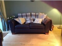 A three seater leather settee in excellent condition from a good home