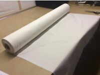 CURTAIN LINING, 100 METRE ROLL, NEW, POLY COTTON