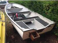 15ft by 6ft wide beam open fishing boat