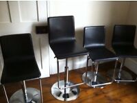 John Lewis bar chairs x 4 in excellent conditions - £75 each, 2 for £145, 4 for £280