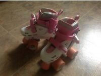 Girls Quad Roller Skates Junior Size 8-11