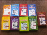 Collection of Diary of a Wimpy Kid books