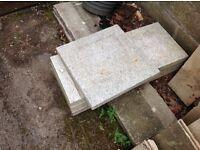 Grey marble slabs x 3