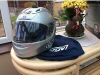 As new Silver AGV Airtech Helmet never worn