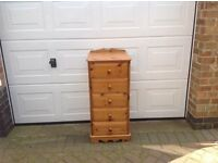 Pine 5 drawer chest